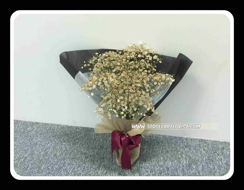 Gold Colour Baby Breath Bouquet - ZZR1219