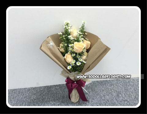 Champagne Rose Bouquet- ZZR1196