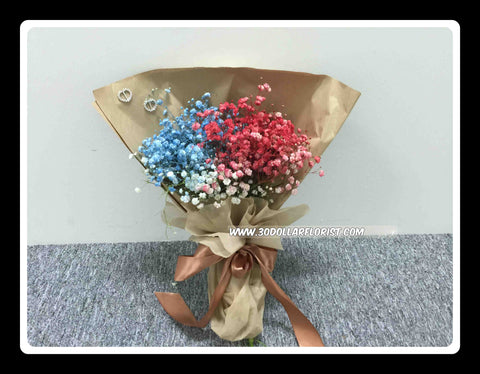Colour Baby Breath Bouquet - VAL1307