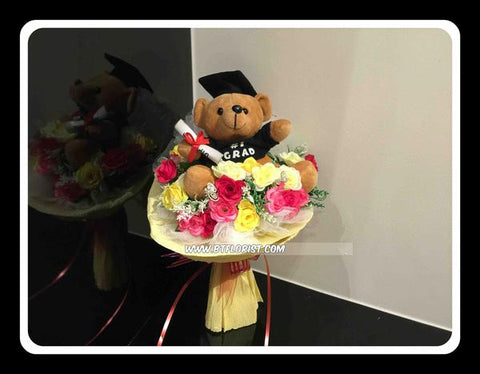 Graduation Diploma Bear Bouquet - ZZR2343