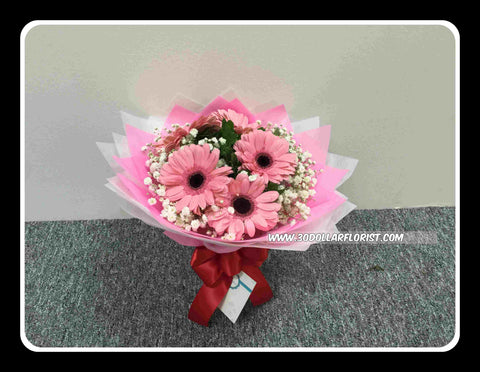 Simple Gerbera Bouquet  II     - val1145