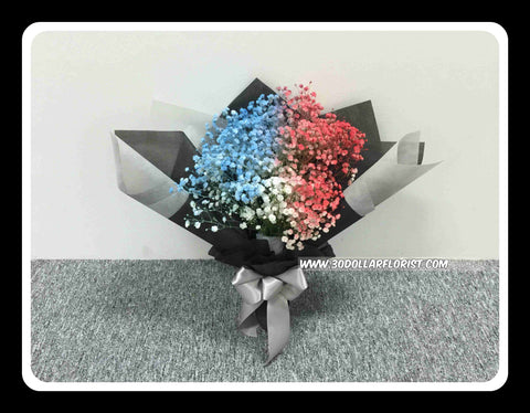 Colour Baby Breath Bouquet - ZZR1307val
