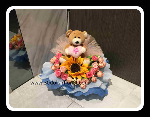 Cute Bear Arrangement  - ZZR0636