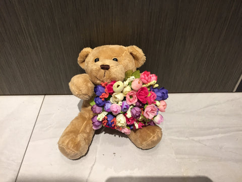 Bear with Artificial Flower - ZZR2177