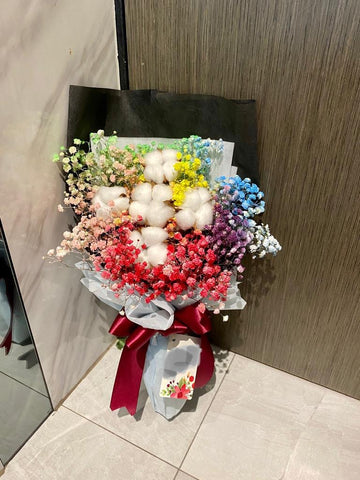 Cotton Flower Bouquet - ZZR1379val