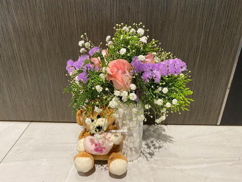 Soft Toy with Flower - ZZR3583