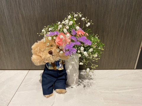 Soft Toy with Flower - ZZR3584