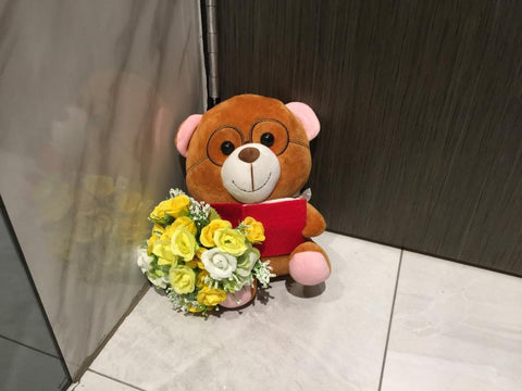Soft Toy with Flower - ZZR3550