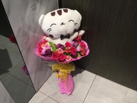 Cute Cat Bouquet - ZZR3607