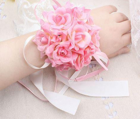 Light Pink Wrist Corsage   - ZZR0380