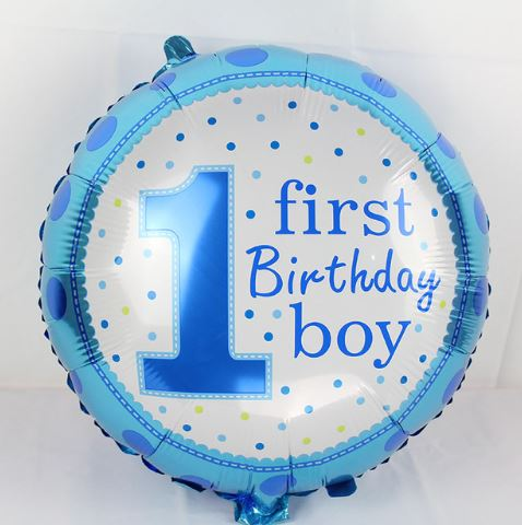 1st Birthday Boy Balloon ( Non Helium)     - BAL0153