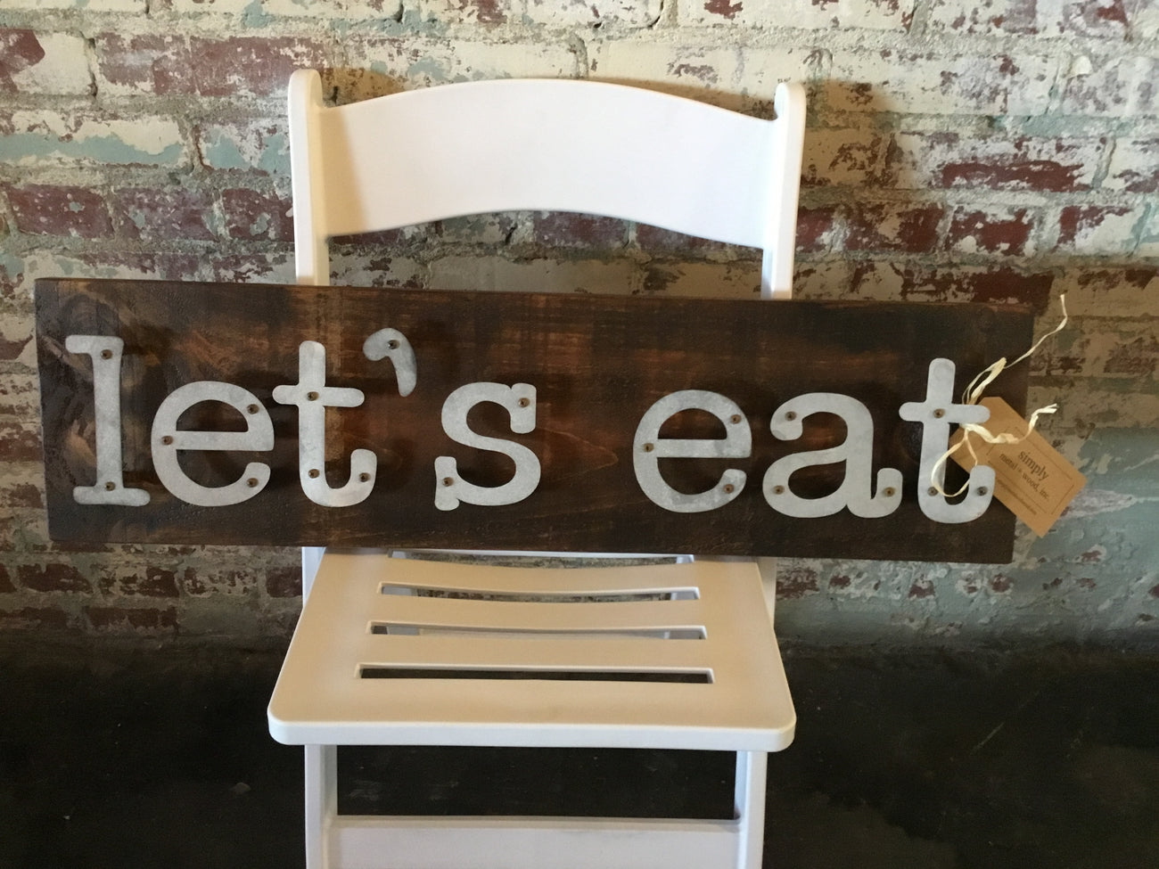 Let's Eat - Kitchen Metal Letter Sign