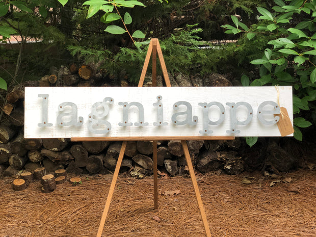 Lagniappe - Farmhouse Metal Letter Sign