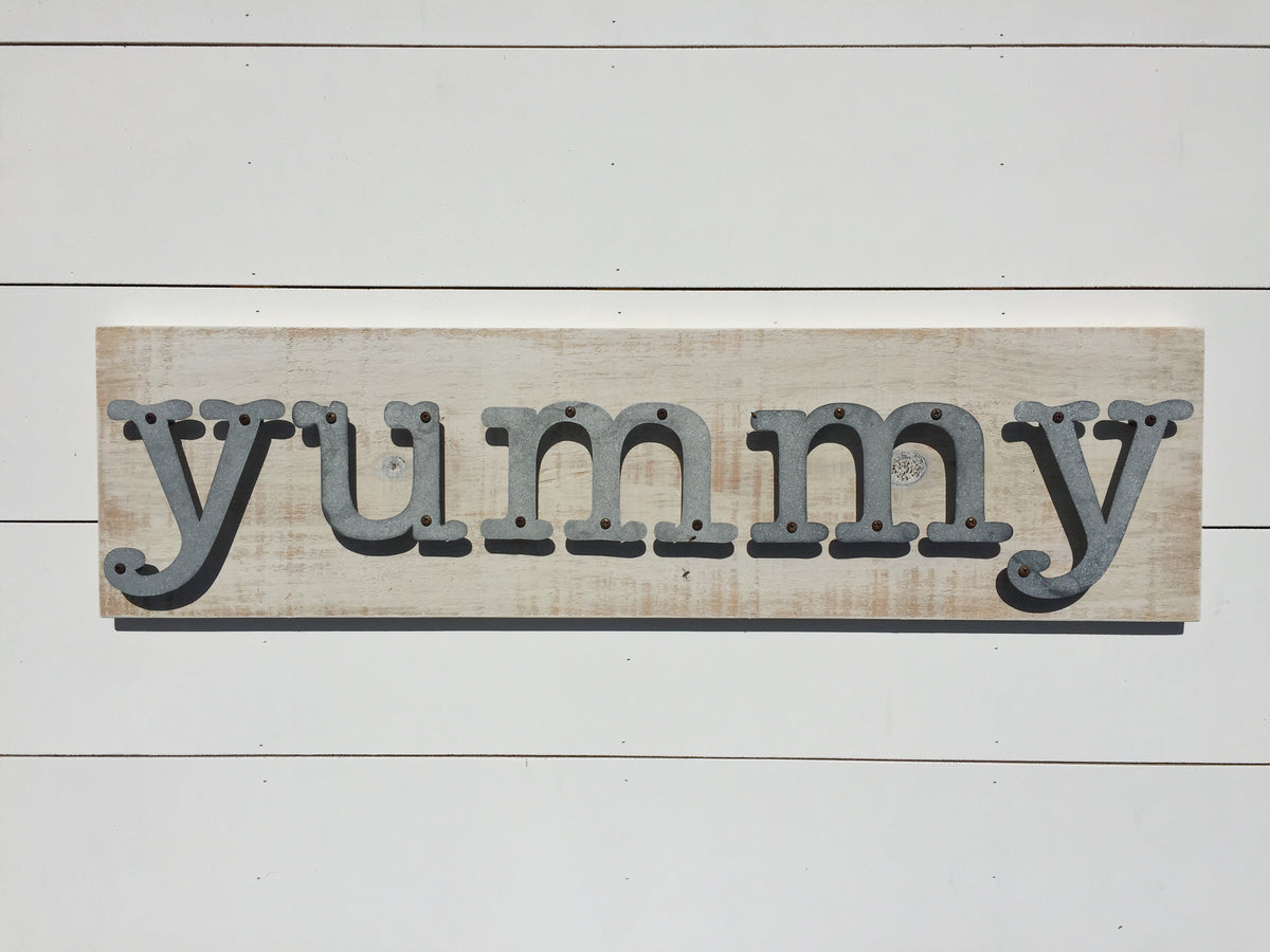 Yummy - Kitchen Metal Letter Sign – simply metal + wood inc.