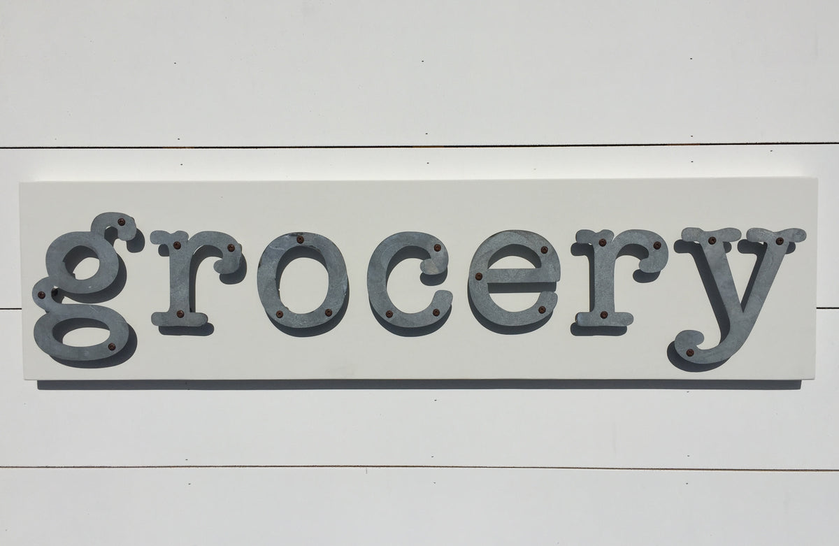 Grocery - Kitchen Metal Letter Sign