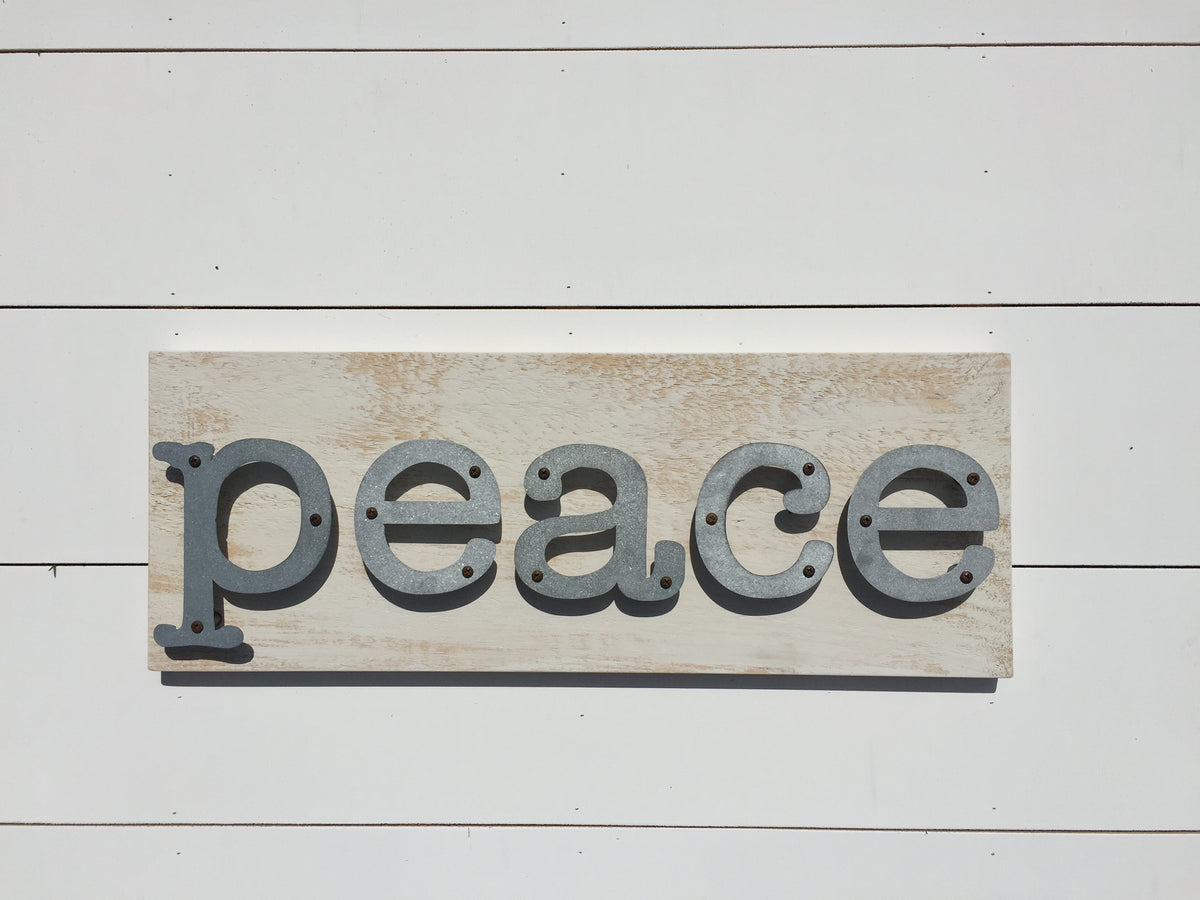 Peace - Farmhouse Metal Letter Sign