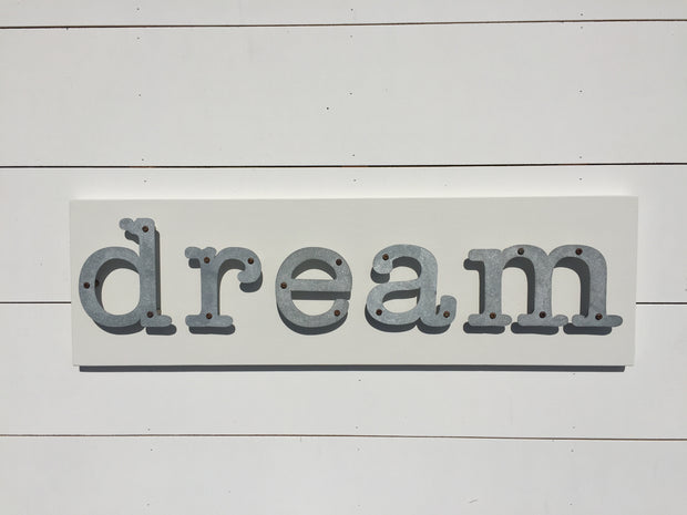 Dream - Kids Metal Letter Sign