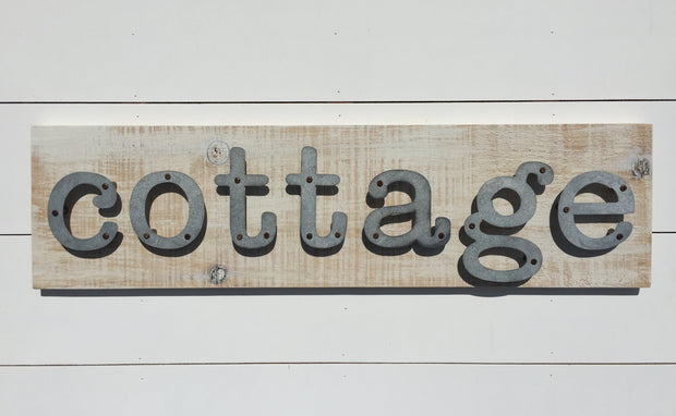 Cottage - Farmhouse Metal Letter Sign
