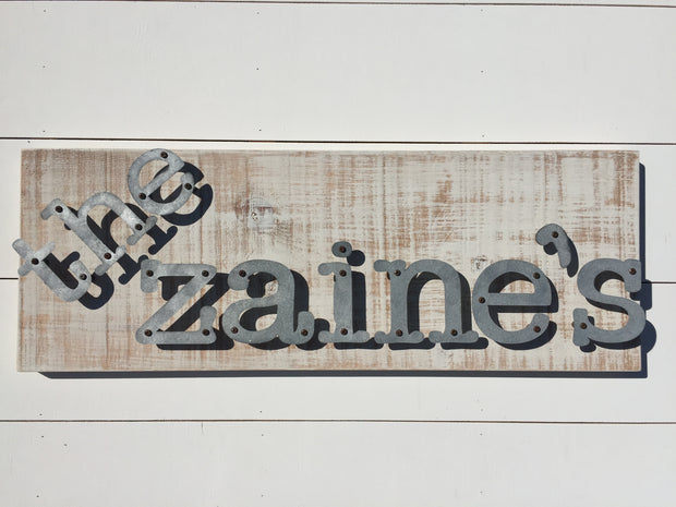 Name Sign, Custom Requests - Personalized Metal Letter Sign