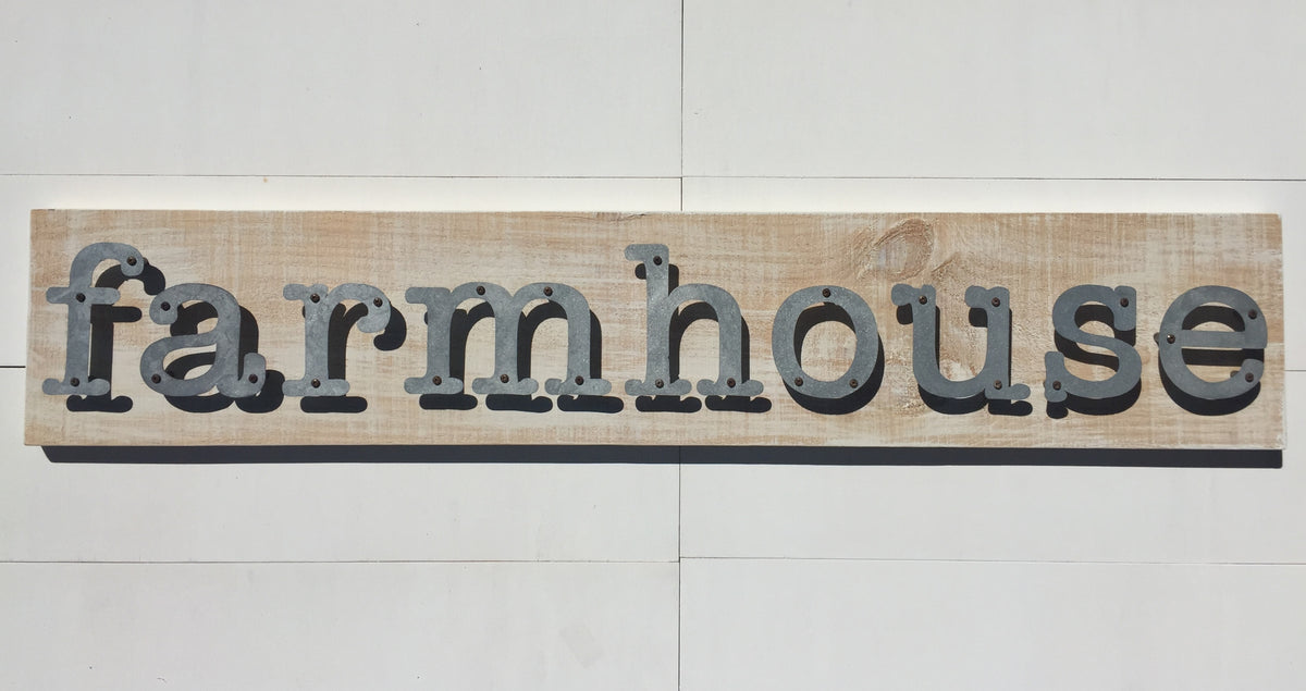 Farmhouse - Farmhouse Metal Letter Sign