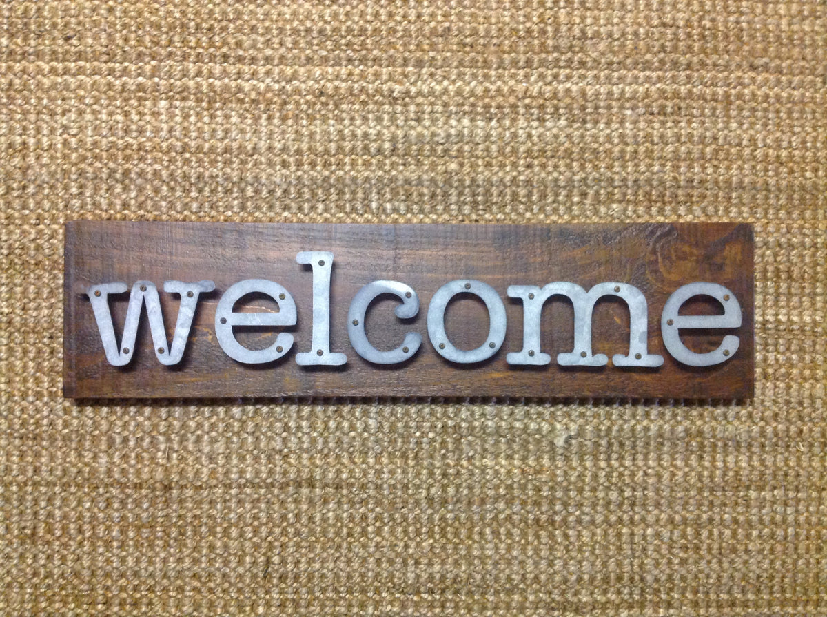 Welcome - Farmhouse Metal Letter Sign