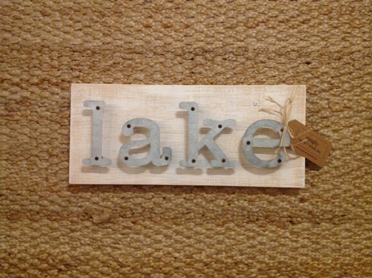Lake - Livin On the Water Metal Letter Sign