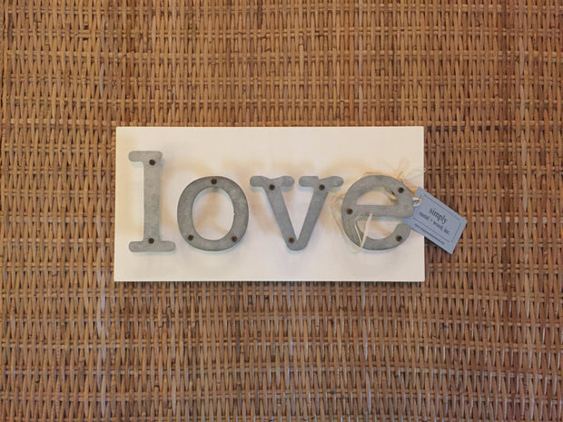 Love - Farmhouse Metal Letter Sign