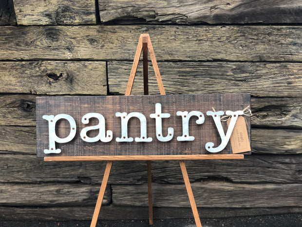 Pantry - Kitchen Metal Letter Sign