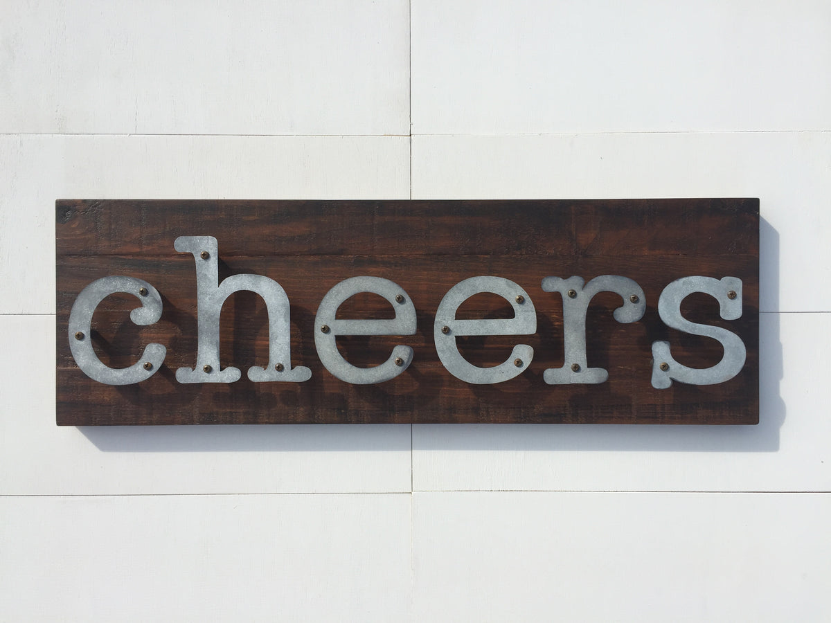 Cheers - Kitchen Metal Letter Sign