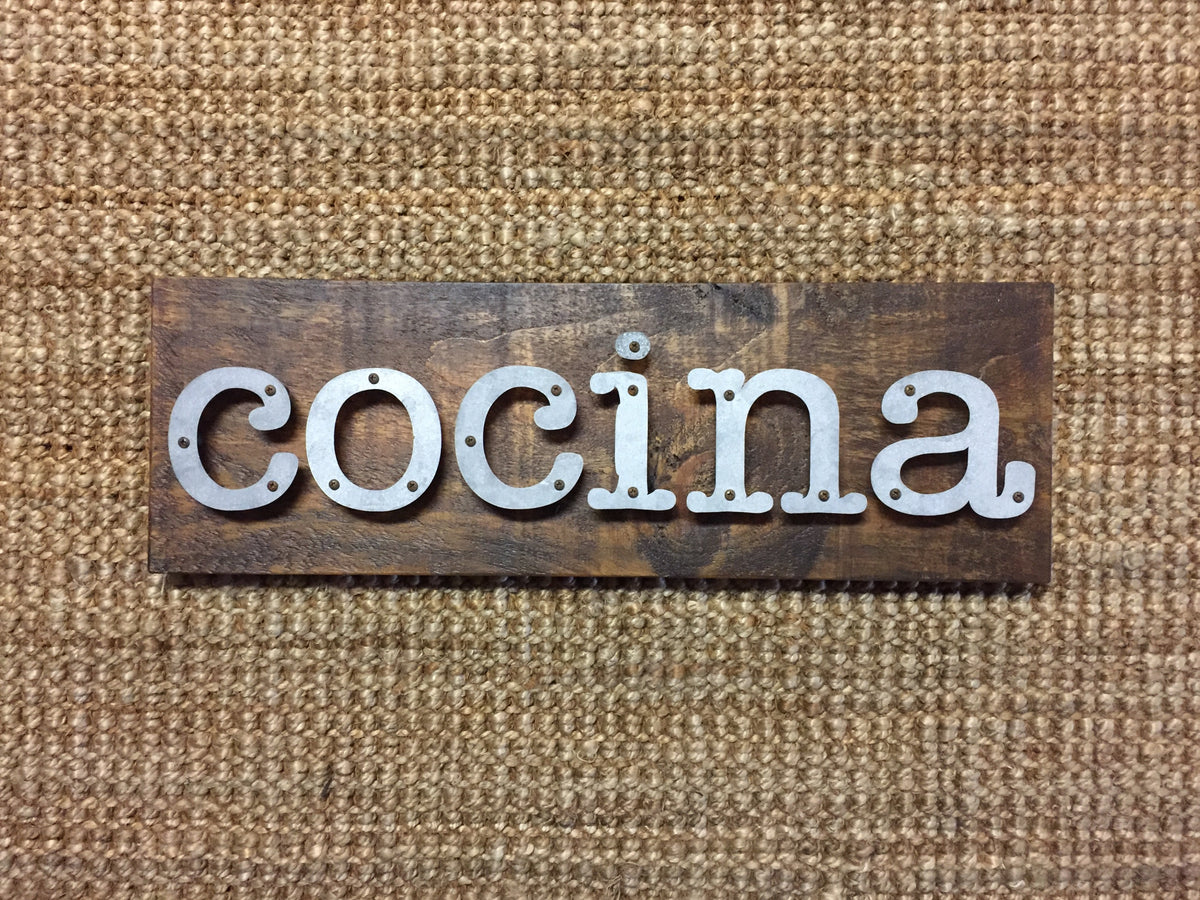 Cocina - Kitchen Metal Letter Sign