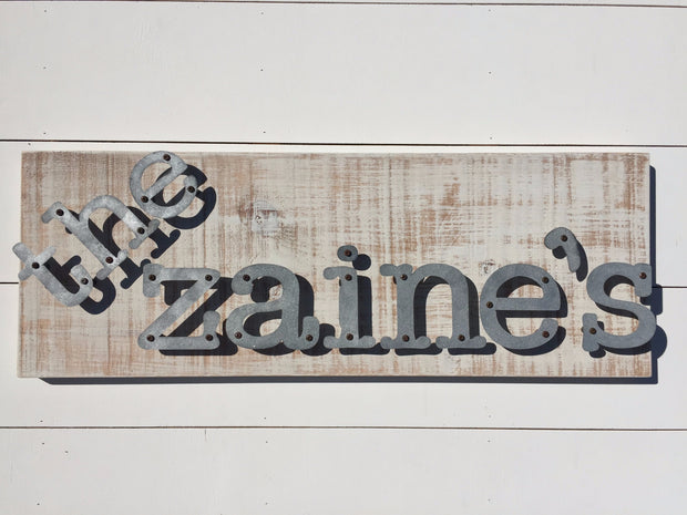 Custom Name - Personalized Metal Letter Sign