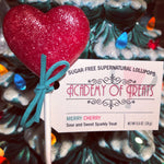 "Sugar Free Christmas ""Merry Cherry"" Lollipop"