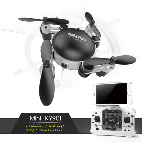 EBOYU KY901 Foldable Mini Drone Selfie Drone with Wifi FPV HD Camera Altitude Hold & Headless Mode