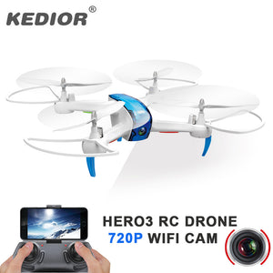 Kedior Hero3 Rc Drone with WiFi Camera HD Altitude Hold and One Key return