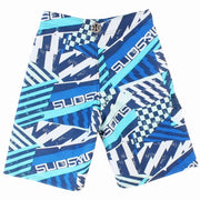 Boys Blue Fever Stretch  Boardshort
