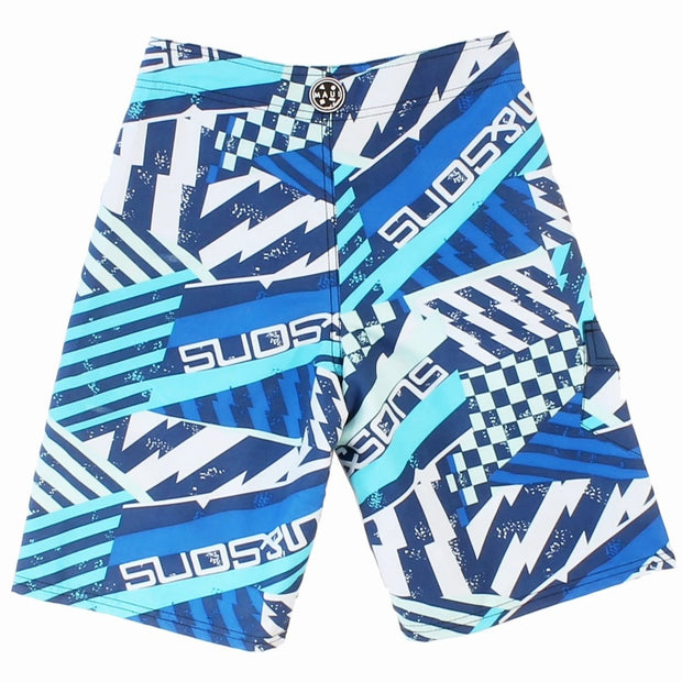 Boys Blue Fever Stretch  Board short
