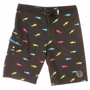 Boys Straight Shark Stretch  Boardshorts