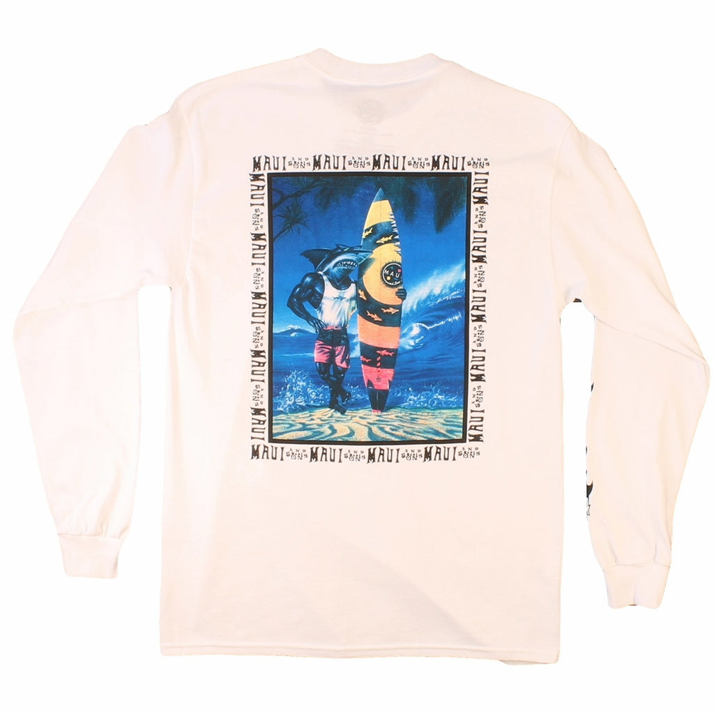 Sharkman on the beach Longsleeve