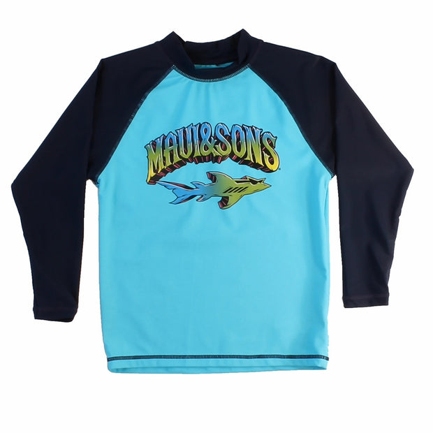 Boys Shark Rider Long sleeve Rash guard