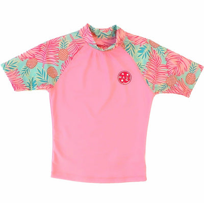 Floral Girl's Rash guard