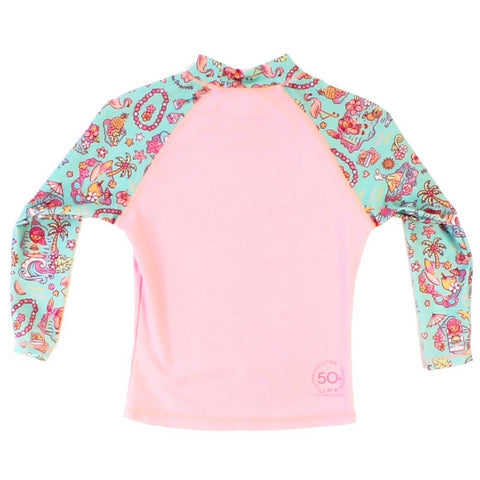 Hula Girl Girls Rashguard