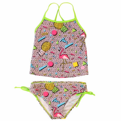 "Girl's ""Flamingo Paradise"" two piece swimsuit"