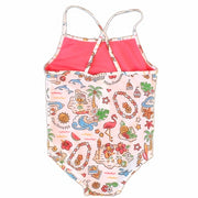 "Girls ""Island Aloha"" 1 piece swimsuit"