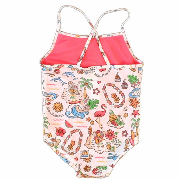 "Girl's ""Island Aloha"" 1 piece swimsuit"