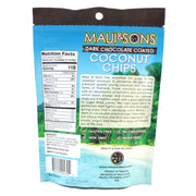 Maui and Sons Chocolate Coconut Chips - 2.8 oz bag-6,10 or 22 case pack