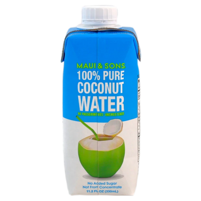 Maui and Sons 100% Pure Coconut Water, 11 OZ packs 4 or 16