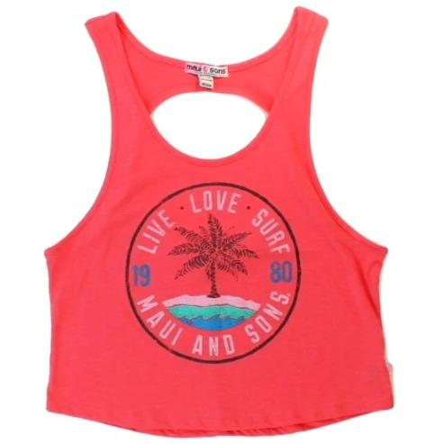 Womens Live Love Surf Tank Top