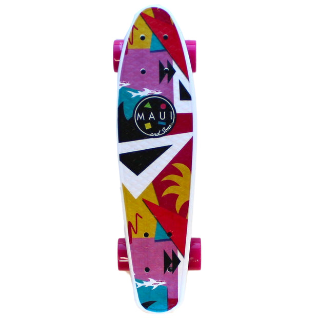 "Shark Tank 22"" Printed PU Kicktail Skateboard"