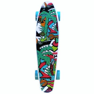 "Maui Pop 22"" Printed PU Kicktail Skateboard"