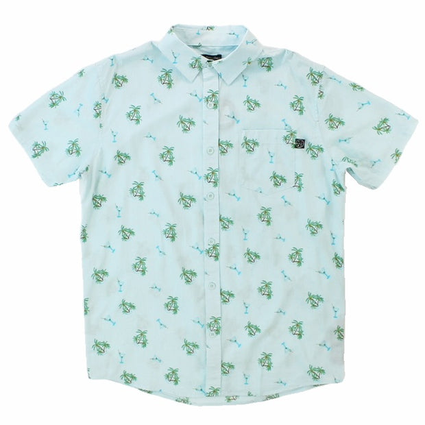 "Mens ""Palms and Martini"" Woven Shirt"